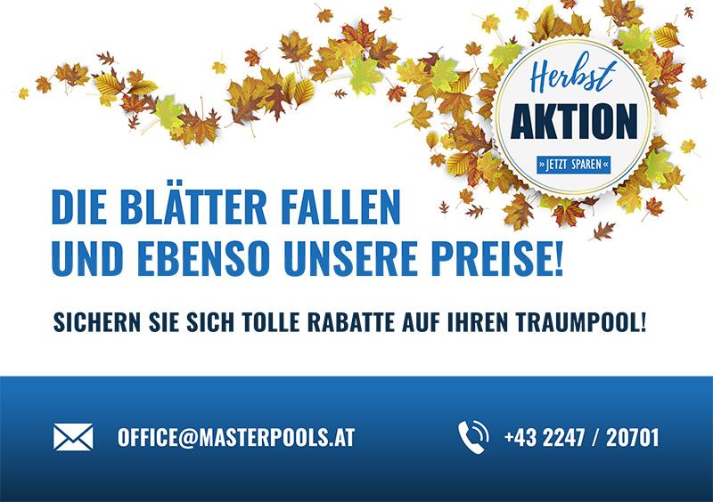 Herbstaktion 2021 - Tolle Rabatte auf Ihren Traumpool!